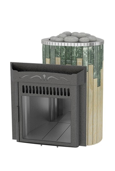 To buy vohringer stove for sauna Maxi in serpentine with Sylvia Oro | Vitau