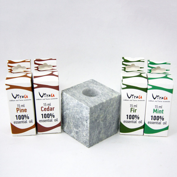 To buy sets of essential oils of Pine, Fir, Cedar, Mint with steam stone | Vitau