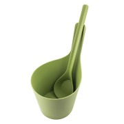 RENTO PISARA SAUNA BUCKET AND LADLE BIOCOMPOSITE MOSS