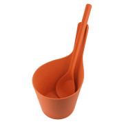 RENTO PISARA SAUNA BUCKET AND LADLE BIOCOMPOSITE WILD STRAWBERRY